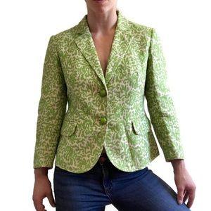 J. Crew vintage style green linen blend blazer 8